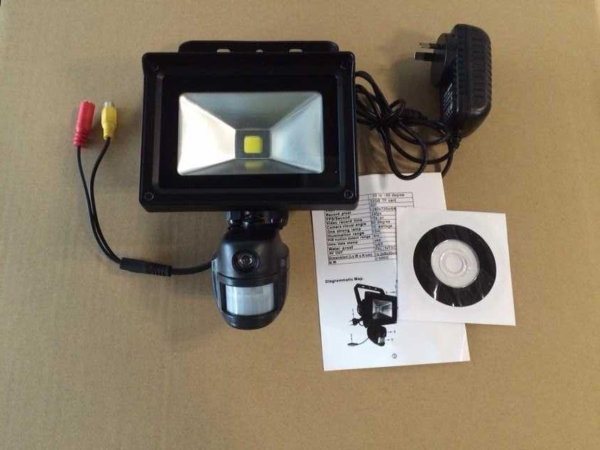 Security Surveillance Covert Camera With Flood Light