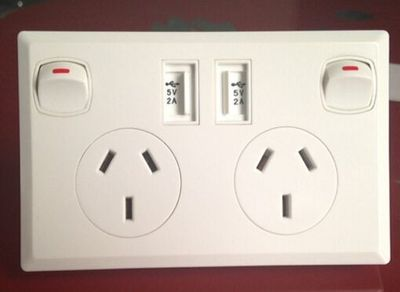 Dual USB charger wall Power Point Socket SAA Australia