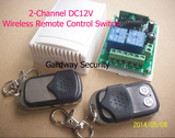 2-Channel DC12V Wireless Remote Control Switch