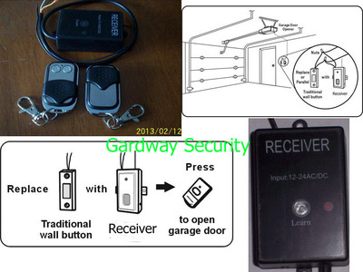 Universal Wireless Receiver Module & Remote keyfob Control DIY Kit DC/AC12V~24V