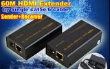 HDMI extender 60m by single Cat5e/6 cable 3D 1080P 60 meters