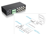 8 CH Video Balun UTP Transceiver