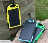 Solar Power Bank 5000mAH Portable 2 x USB Charger