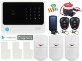 WIFI IP IOS Android APP GSM Wireless Home Security Alarm Burglar System