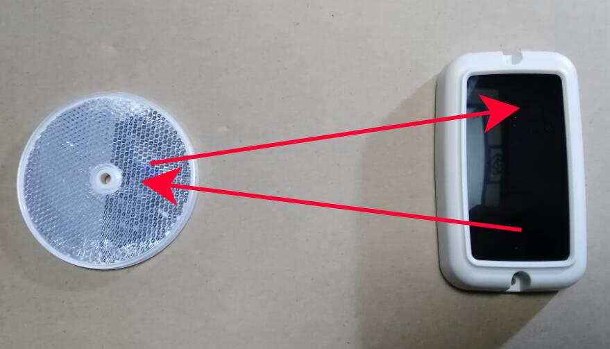 Reflective Ir Beam Detector Door Entry Alert Buzzer Bell