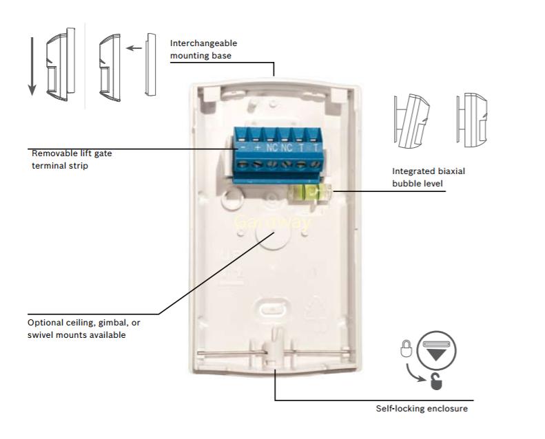 bosch standard detector sensor pir blue line gen2 isc bpr2 w12 rh gardway com bosch quad pir wiring diagram bosch alarm pir wiring diagram