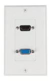 HDMI VGA Wall Plate Composite  Jack Outlet