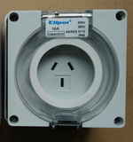3 Pin 10A 250V AC Weatherproof IP66 with enclosure