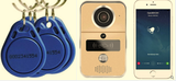 WIFI Video Doorbell Intercom IP with RFID Swipe tags Free APP