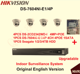 Hikvision H.264 CCTV System 4 PCS IP Dome Camera POE + 6MP 4-CH -4-POE NVR Complete KIT